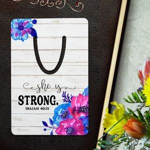 Accessories - She Is Strong Isaiah 40:31 Bookmark